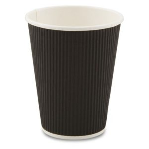 Black Ripple Cups 12oz