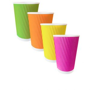 rainbow ripple cups 12oz