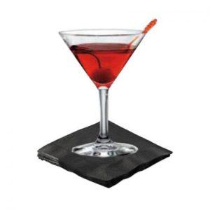 Black Cocktail Napkins 2 Ply 2