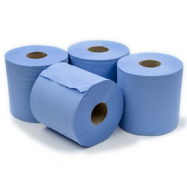Blue Centre Feed Rolls- 150 m-pack of 6