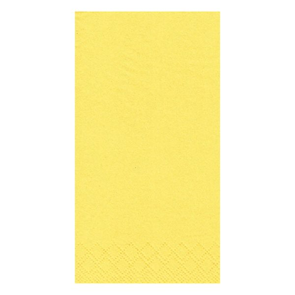 yellow lunch napkins 8 fold