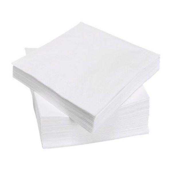white 2ply dinner napkins