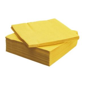 yellow dinner napkins