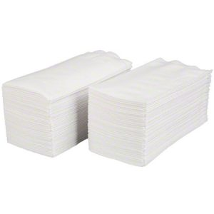 White 2ply Dinner Napkins 1/8 fold