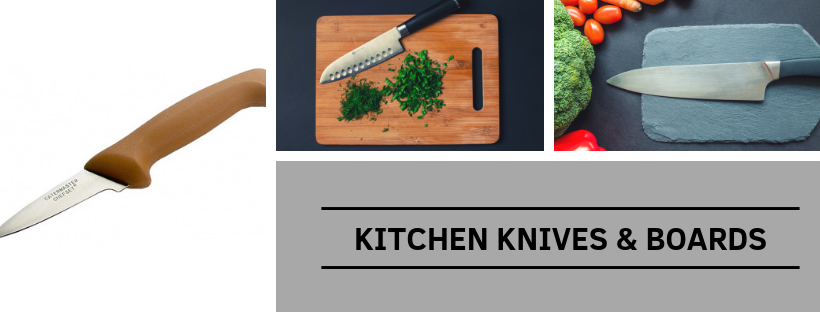 Kitchen Knives and Boards