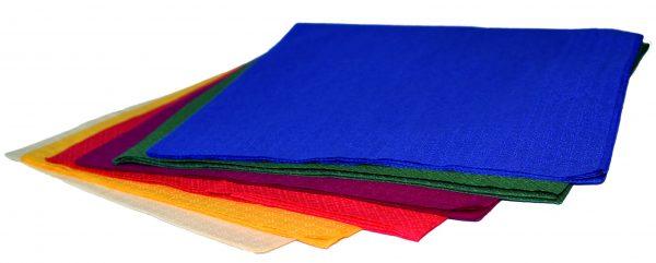 coloured dinner napkins