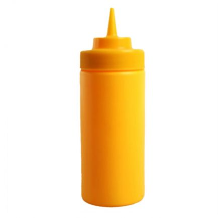 yellow squeeze bottle 8oz