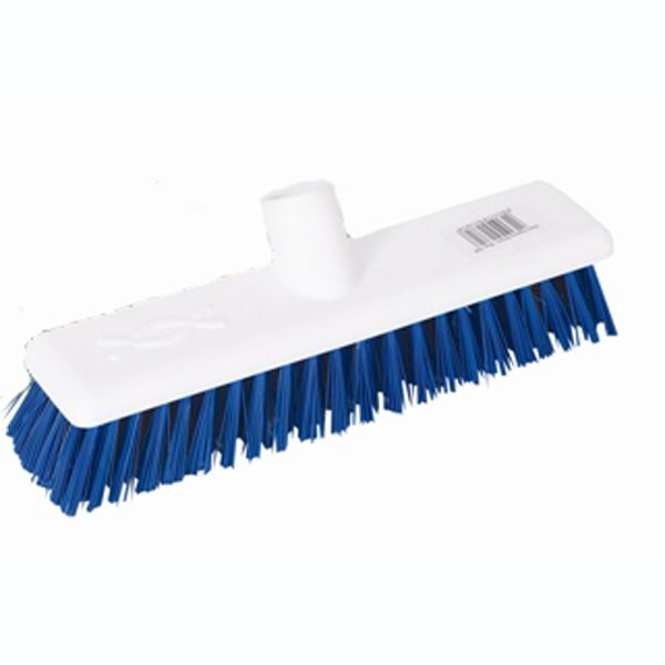 blue stiff broom