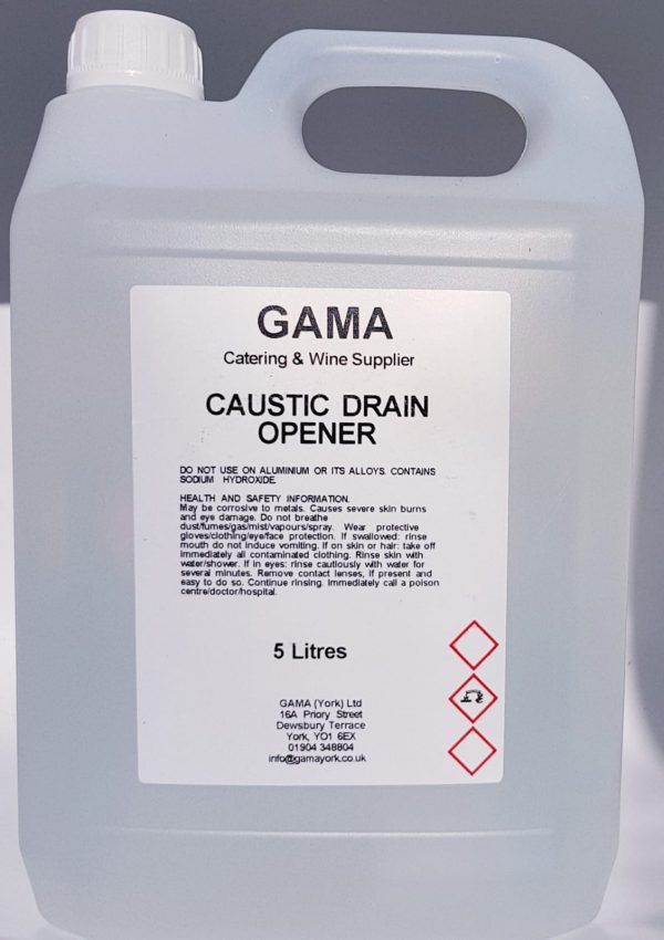 Caustic sink and drain cleaner