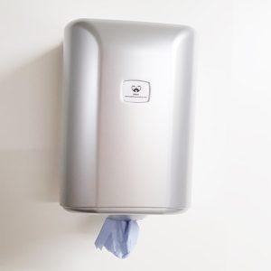 Blue Rolls Dispenser Silver
