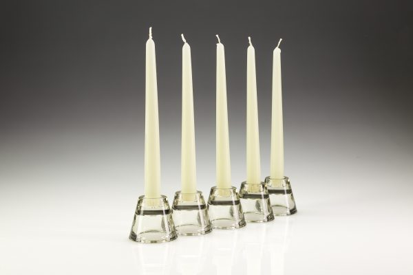 Glass Holder Tapered Candles