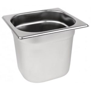 Stainless steel Gastronorm Pan 1/6 Size - 150 mm deep