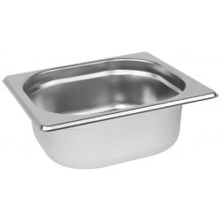 Stainless steel Gastronorm Pan 1/6 Size - 65 mm deep