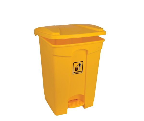 87l Polypropylene Pedal Bin Yellow