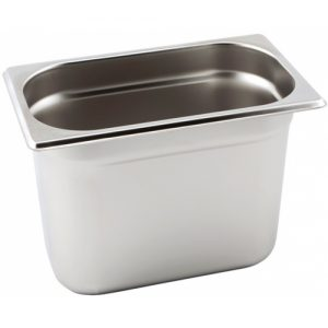 Stainless steel Gastronorm Pan 1/4 Size - 200 mm deep