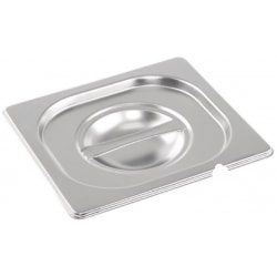 Stainless steel Gastronorm Pan 1/6 Size Lid Notched