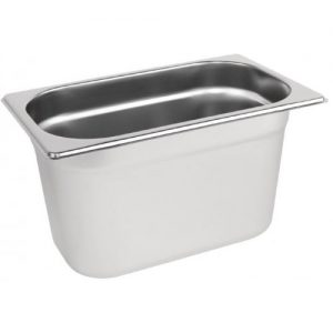 Stainless steel Gastronorm Pan 1/4 Size - 150 mm deep