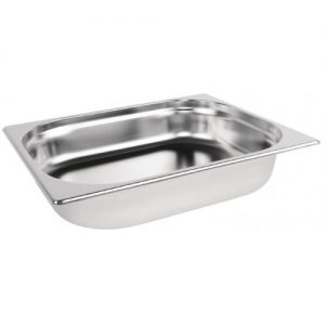 Stainless steel Gastronorm Pan 1/2 Size - 200 mm deep