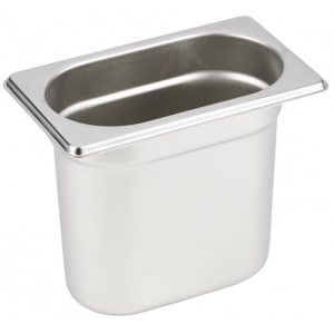 Stainless steel Gastronorm Pan 1/9 Size - 150 mm deep