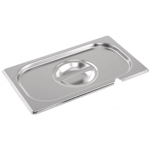 Stainless steel Gastronorm Pan 1/4 Size Lid Notched