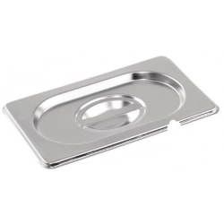 Stainless steel Gastronorm Pan 1/9 Size Lid Notched